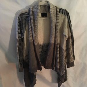 Cynthia Rowley tans&browns open waterfall cardigan
